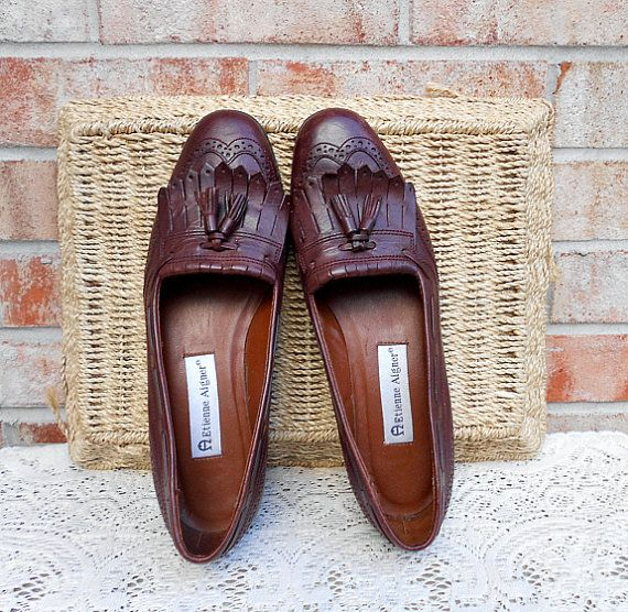 f47ea1bb572 Vintage Oxford Loafers 80 s Etienne Aigner Tassel by luvofvintage