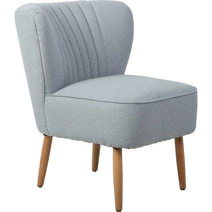 Best Denim Blue Ribbed Retro Accent Chair 70Cm Diy Bathroom 400 x 300