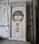Framed Balloon Art, framed balloon, framed art, distressed frame