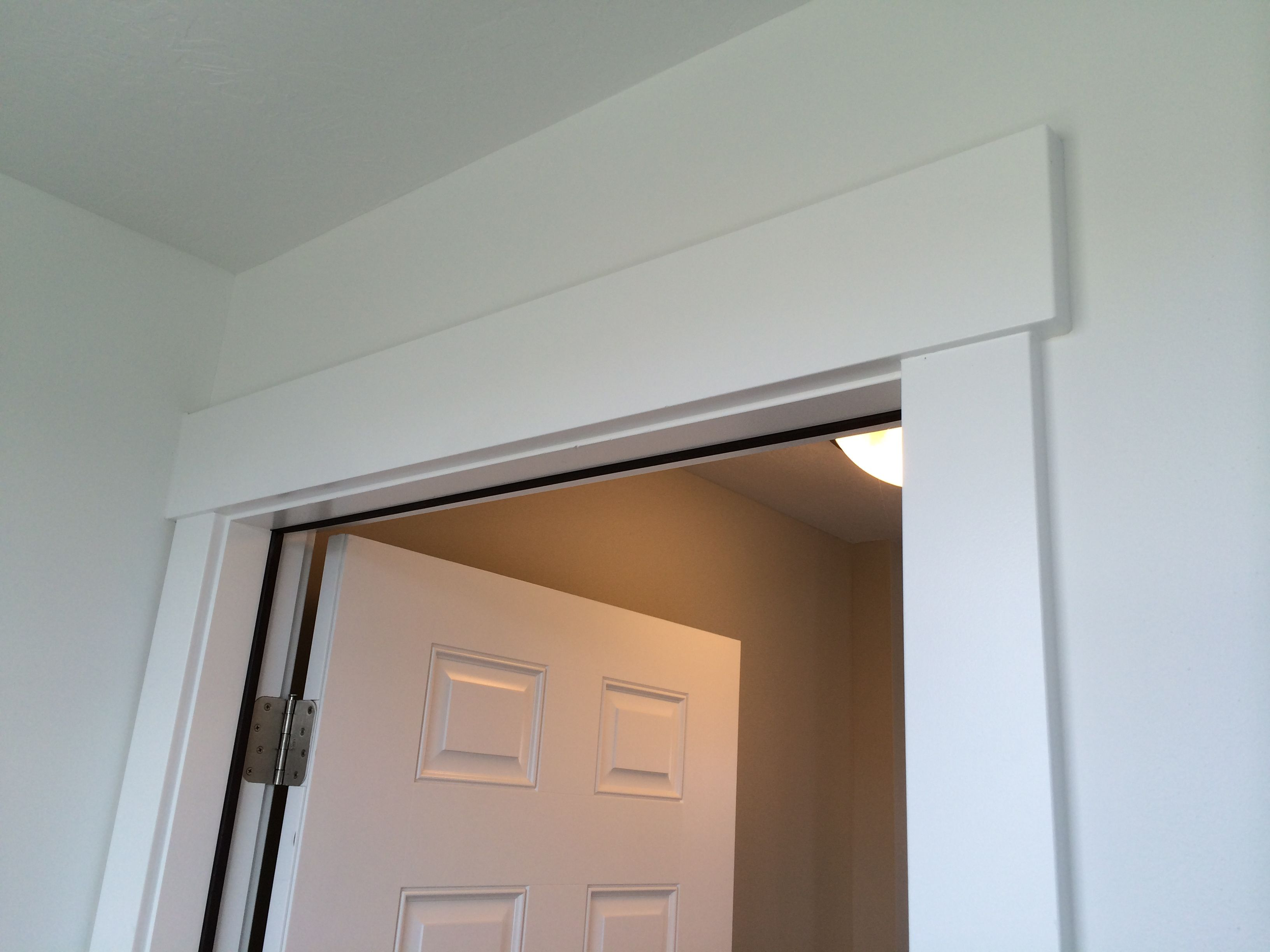 Mission style door casing and header finishes floors for Mission style moulding
