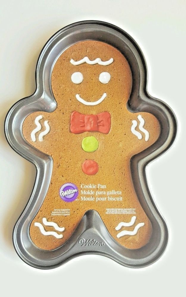 Large Christmas Wilton Cookie Pan Gingerbread Man Holiday Candyland