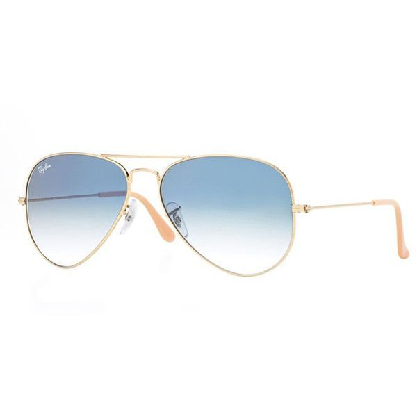 Ray-Ban Large Metal Aviator Sunglasses ( 175) ❤ liked on Polyvore featuring  accessories, eyewear, sunglasses, women, ray ban glasses, metal sunglasses,  ... df04363827