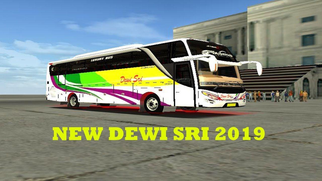 New Dewi Sri 2019 Bus Skin Dewi Sri Luxury Bus