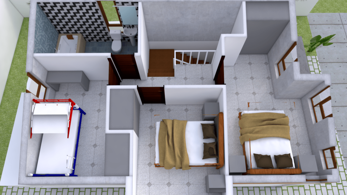 Small Home Design Plan 5 4x10m With 3 Bedroom Small House Design
