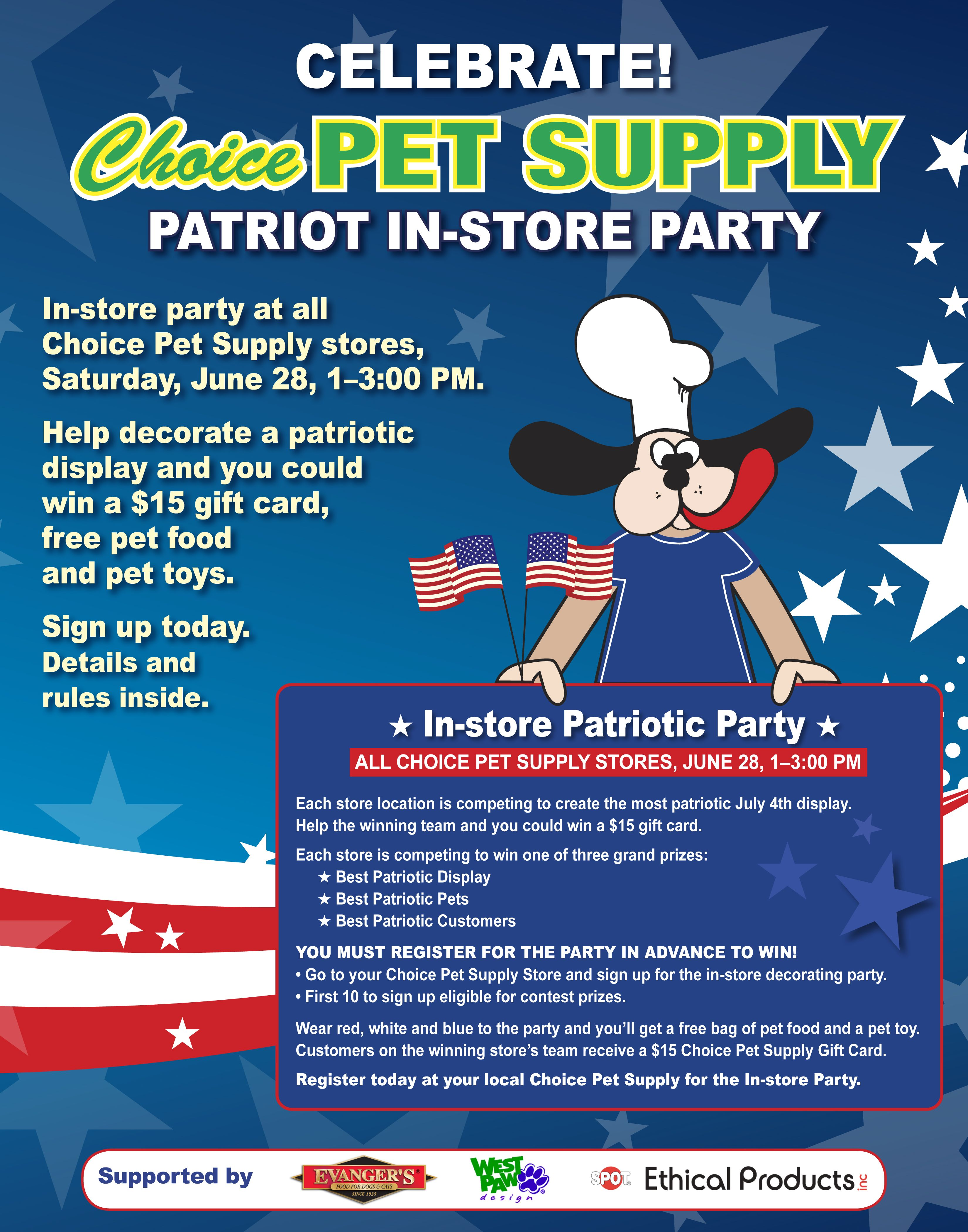 Get Your Red White And Blue On And Come To The Patriot Party