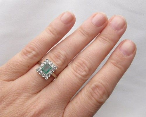 emerald, art deco