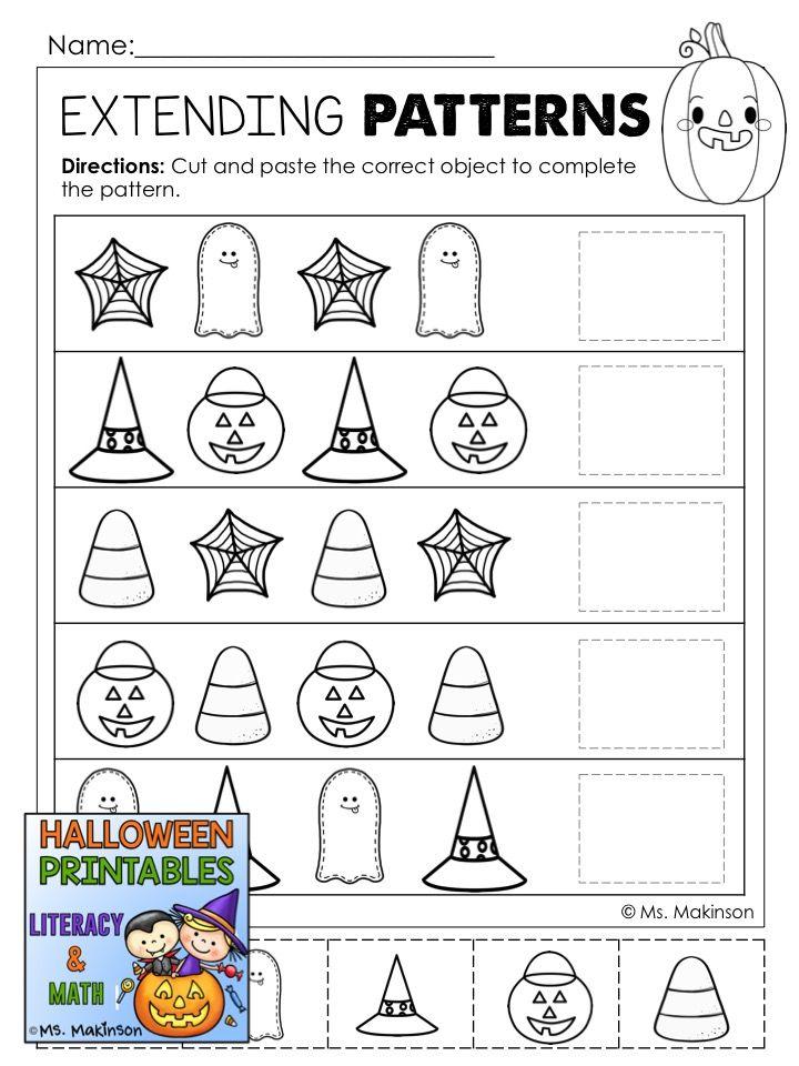 Halloween Printables Literacy & Math Halloween