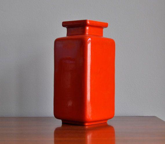 Rust Orange Vase by Haeger