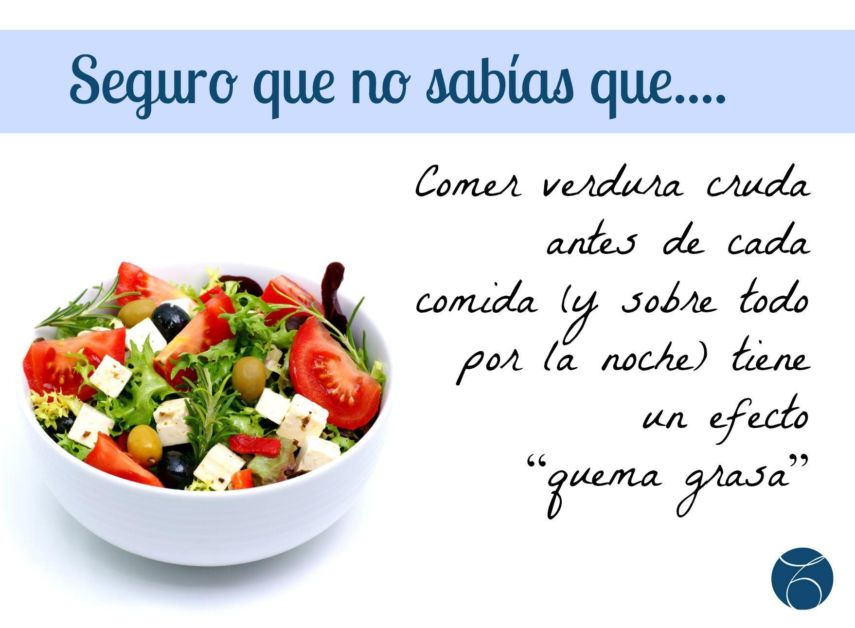 Sab As Que Comer Verdura Cruda Como Primer Plato Tiene Un Efecto  ~ Como Adelgazar Comiendo De Todo