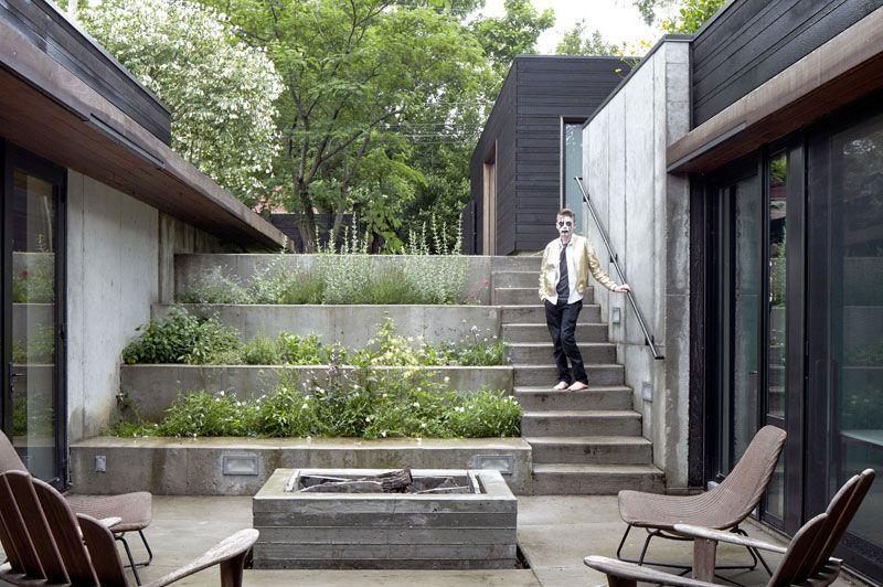 Maison moderne avec un toit terrasse végétalisé House - exemple de maison moderne