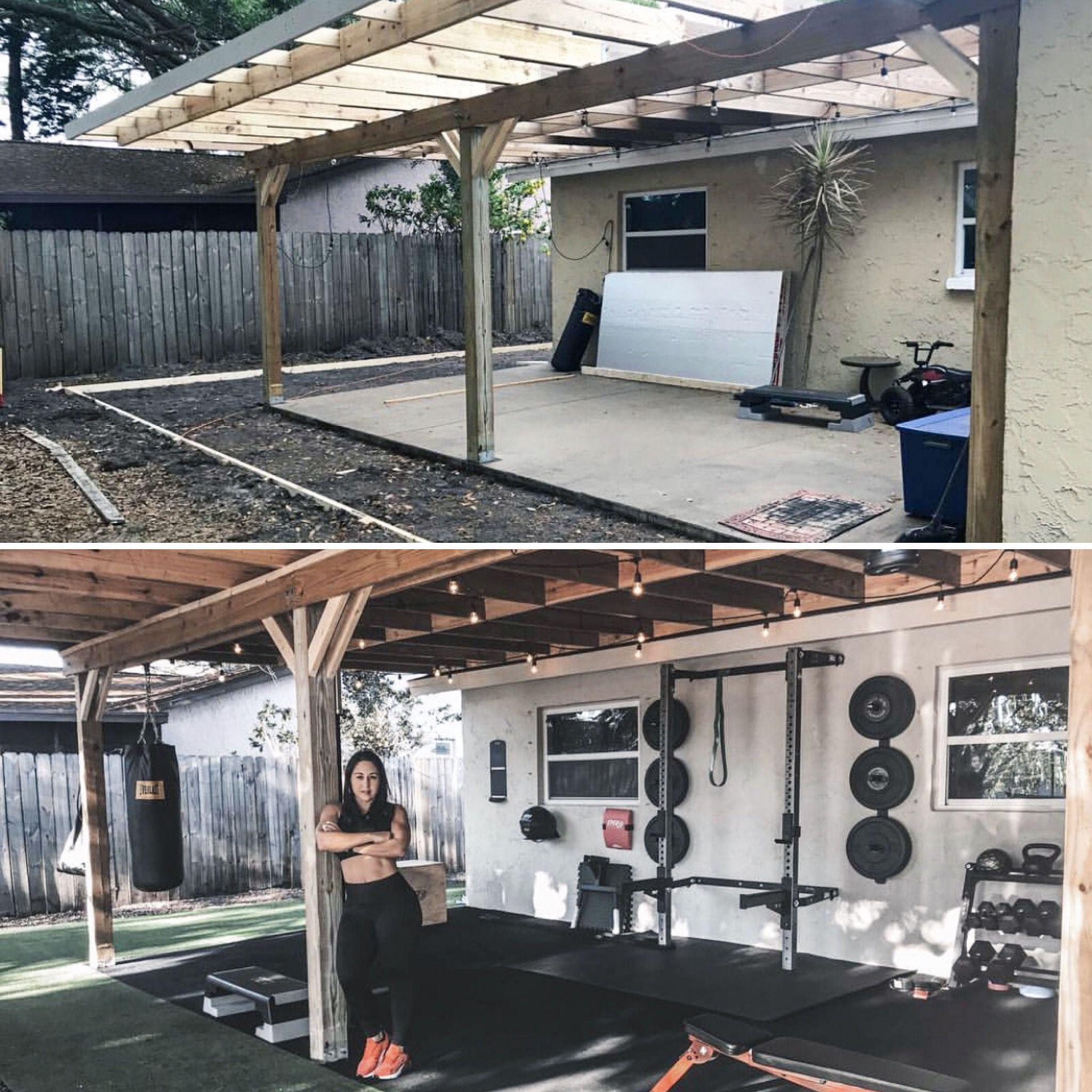 Outdoor gyms are life.  Diy home gym, Gym room at home, Backyard gym