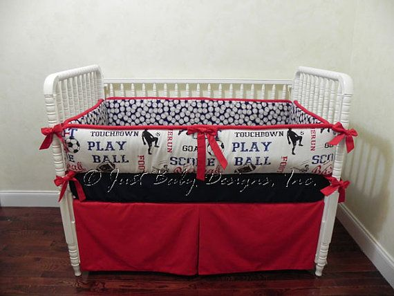 Baseball Crib Bedding Set Wesley Baby Boy By Babybeddingbyjbd