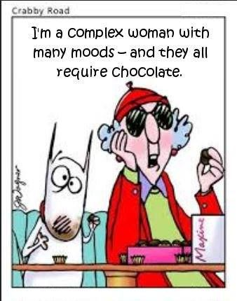 Image result for image cartoon chocolate maxine grumpy old woman