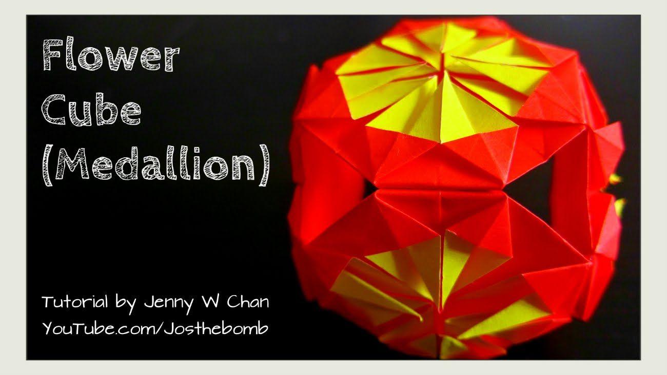 Diy How To Fold Origami Flower Medallion Cube Tutorial Easy