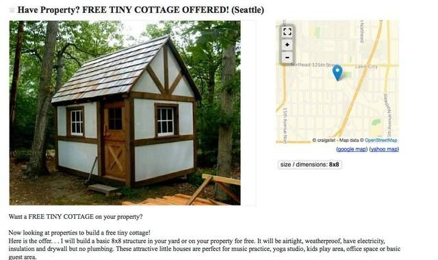 In Trade For A Tiny House Would You Be Open To Letting Someone Live In Your Backyard For Six Months Tiny Cottage Tiny House Small House