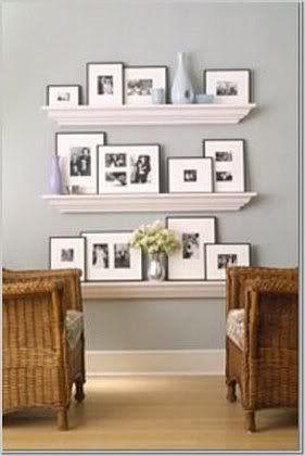 Plank Voor Lijstjes.Gallery Wall Photo Shelf Foto Plank Aan De Muur Foto S