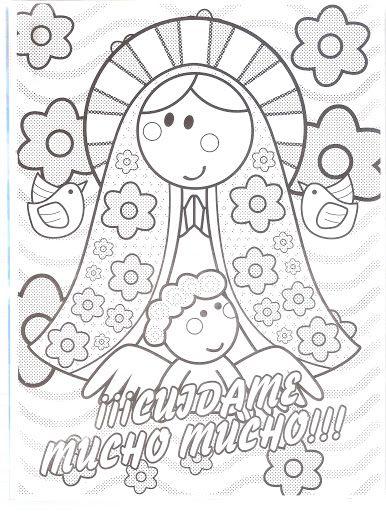 Dibujos Para Colorear De Virgencita Plis | zzz | Pinterest