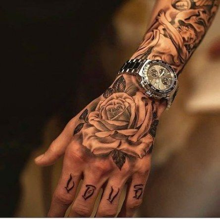 67 ideas tattoo for guys hand rose