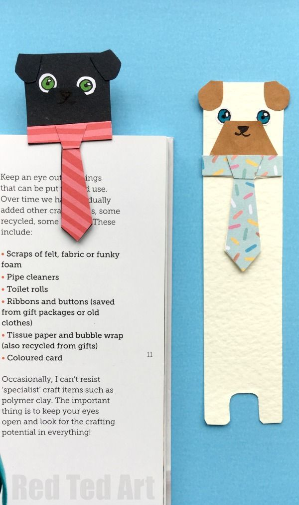 Hug A Book Pug Bookmark Diy Red Ted Art Make Crafting With Kids Easy Fun Bookmarks Kids Cute Bookmarks Diy Bookmarks