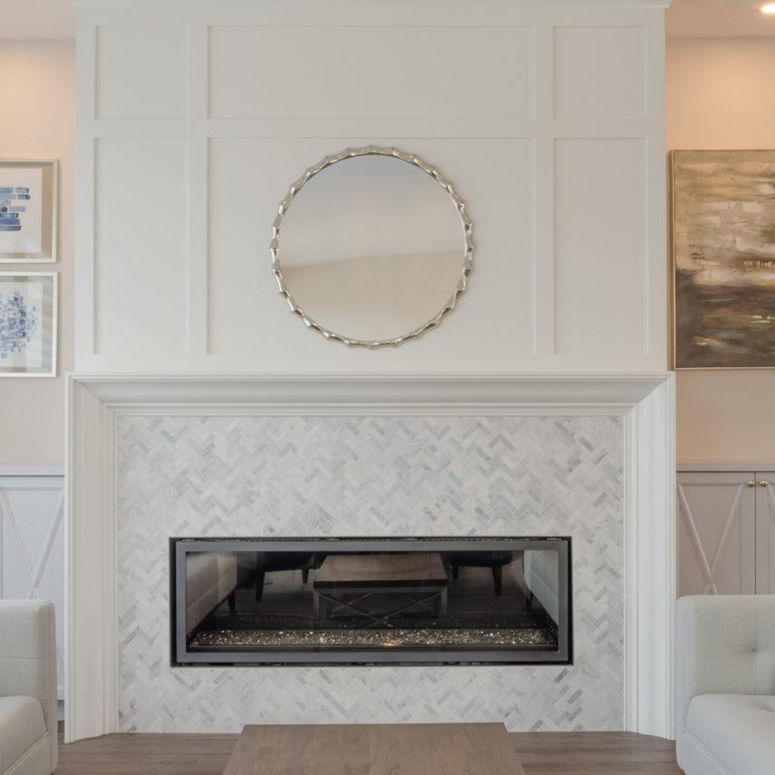Bentley Interior Design Portfolio Winnipeg In 2020 Living Room With Fireplace Linear Fireplace Herringbone Fireplace