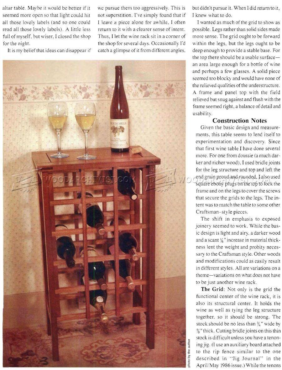 Wine Rack Table Plans Furniture Plans Wine Rack Table Wine Rack Table Plans