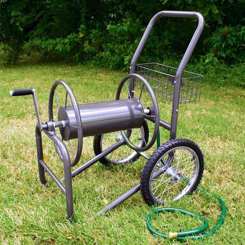 Liberty Garden 871-S Residential Grade 4-Wheel Garden Hose Reel Cart Bronze Holds 250-Feet of 5//8-Inch Hose