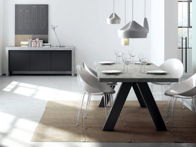 Tisch in Betonoptik selber machen Ideen mit Effektfarbe