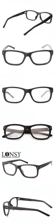 LONSY 2017 Eye Glasses Optical Frame Clean Eyewear Optical Women ...
