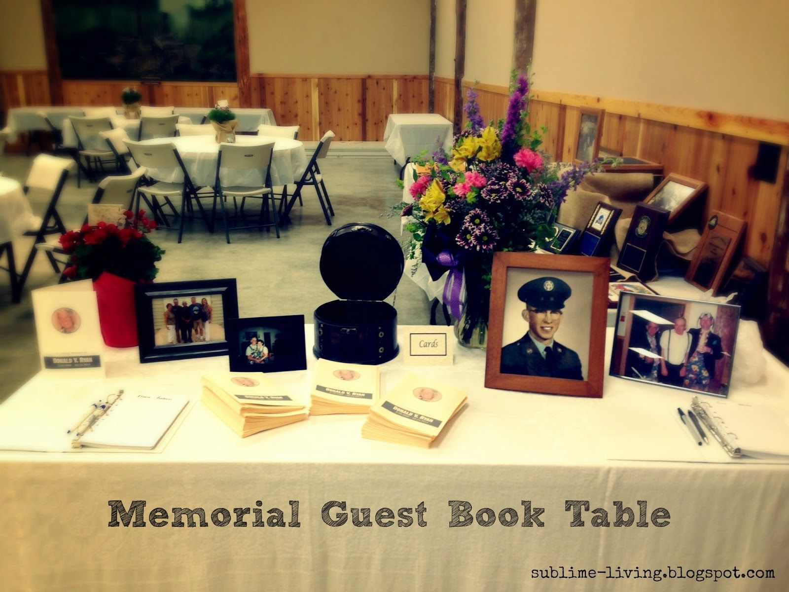Have a Memorial Guest Book Table at the Funeral Reception ...