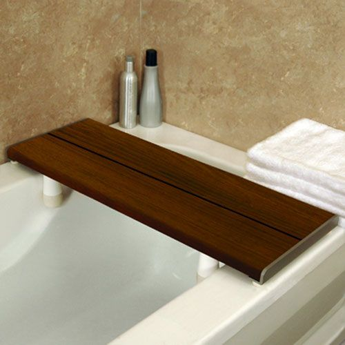 Invisia Brazilian Walnut Bath Bench Bath Seat Healthcraft Standing ...