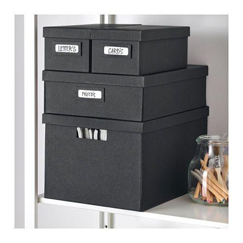 tjena bo te avec couvercle noir ikea contenants de rangements pinterest. Black Bedroom Furniture Sets. Home Design Ideas