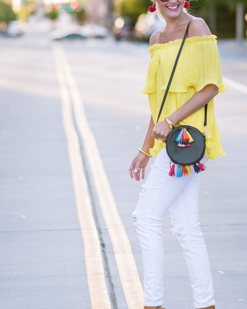 Top: Shein  Jeans: Old Navy  Wedges: Dsw  Cross Body: