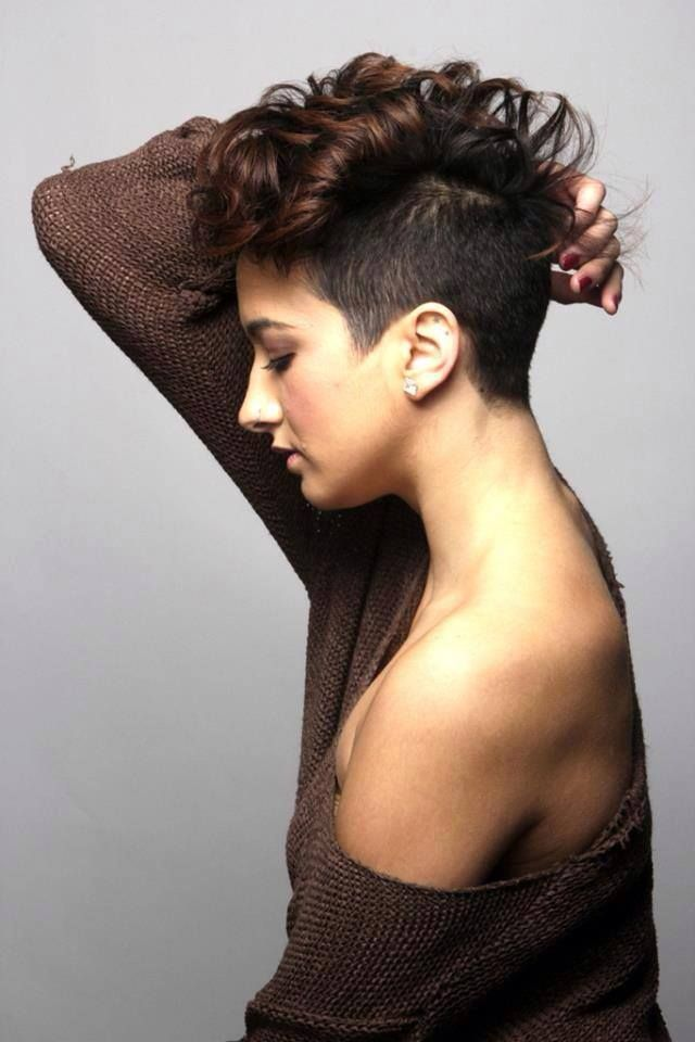 Curly Asymmetrical And Short Short Hair Pinterest Curly