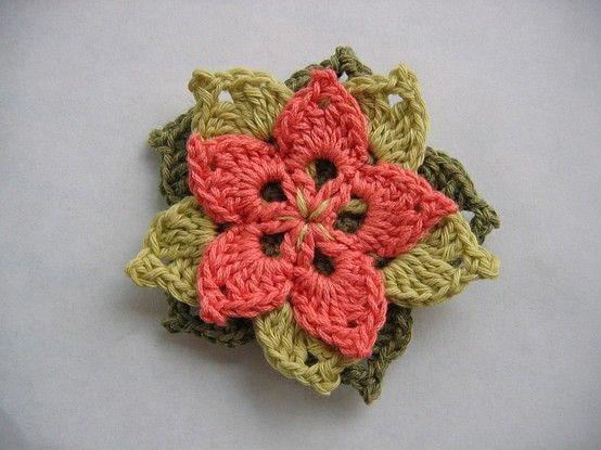 Free Pattern For Crocheted Flower By Yin18 Flores De Croch