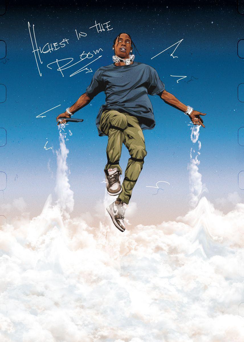 'Travis Scott' Poster Print by Zie Basilio | Displ