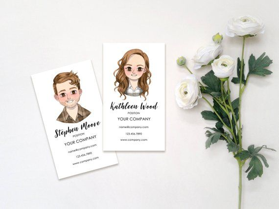 Custom Illustrated Personalized Business Cards
