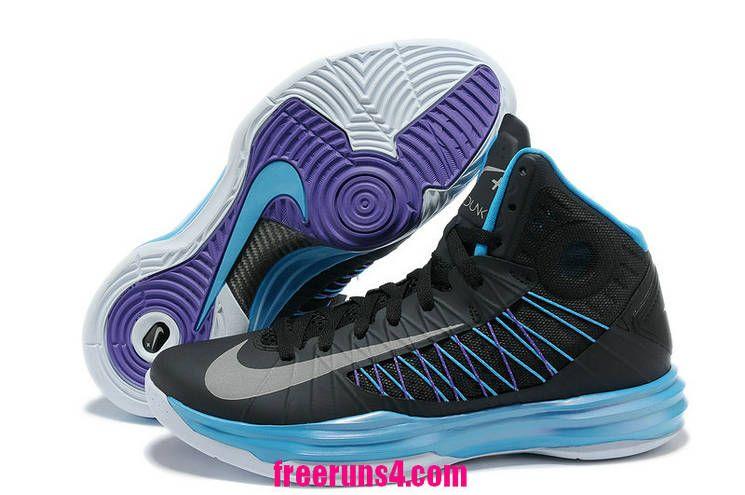super popular 28a30 f6518 Cheap Nike Lunar Hyperdunk 2012 Sport Pack Black Metallic Silver Blue Glow  Blue Tint 524948 001 Basketball Shoes Sale 2013 Outlet