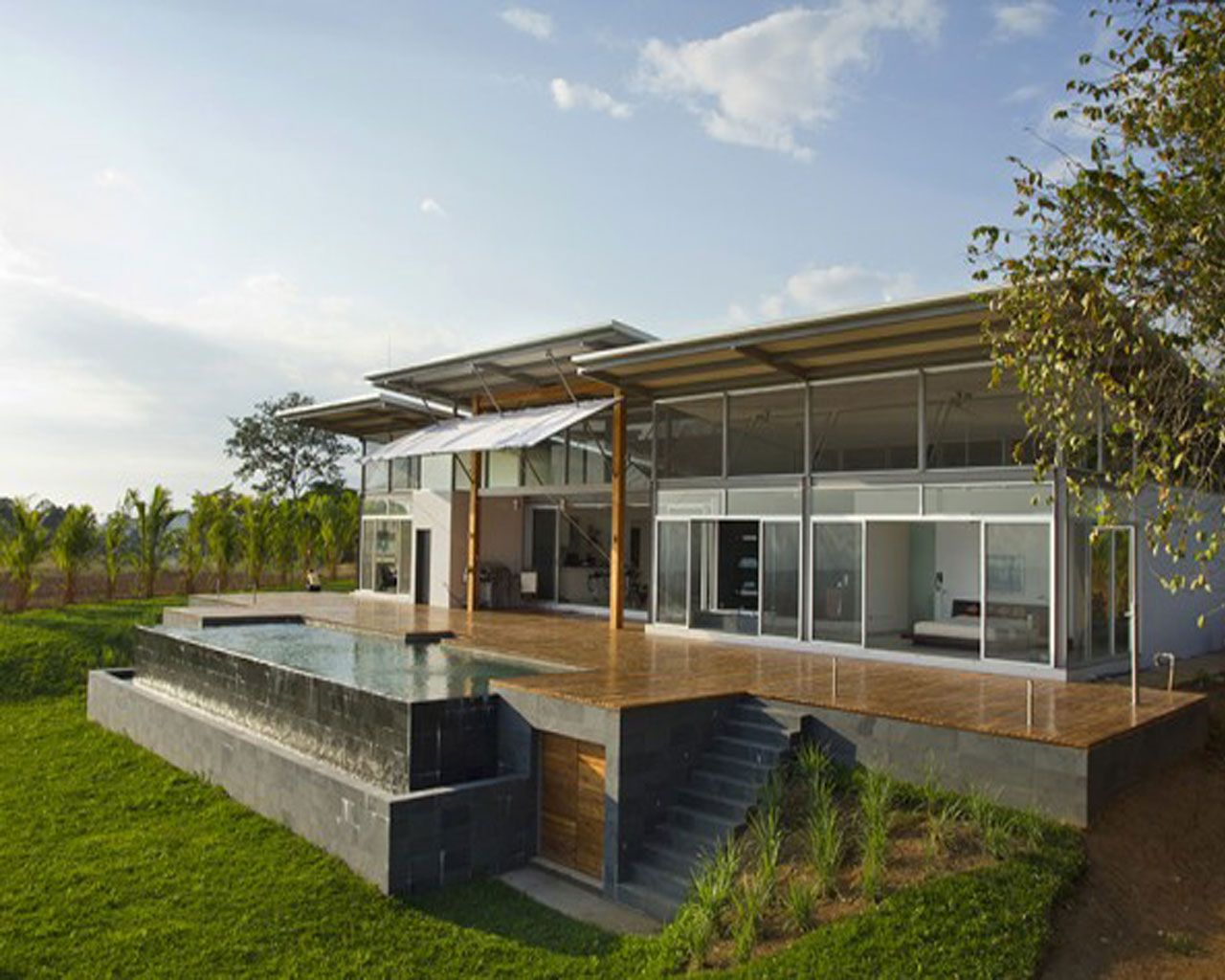 Best Kitchen Gallery: Hill Houses Designs Pretty Cool Modern Home Des… Furniture And of Modern Home Base Of Steep Hillside on rachelxblog.com