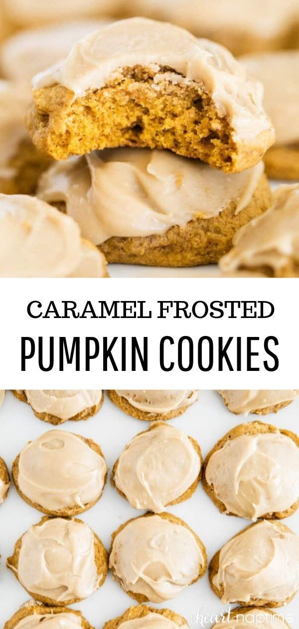 Pumpkin Cookie Melt in your mouth pumpkin cookies with caramel frosting. Simply the best pumpkin cookies out there and a must make this fall!