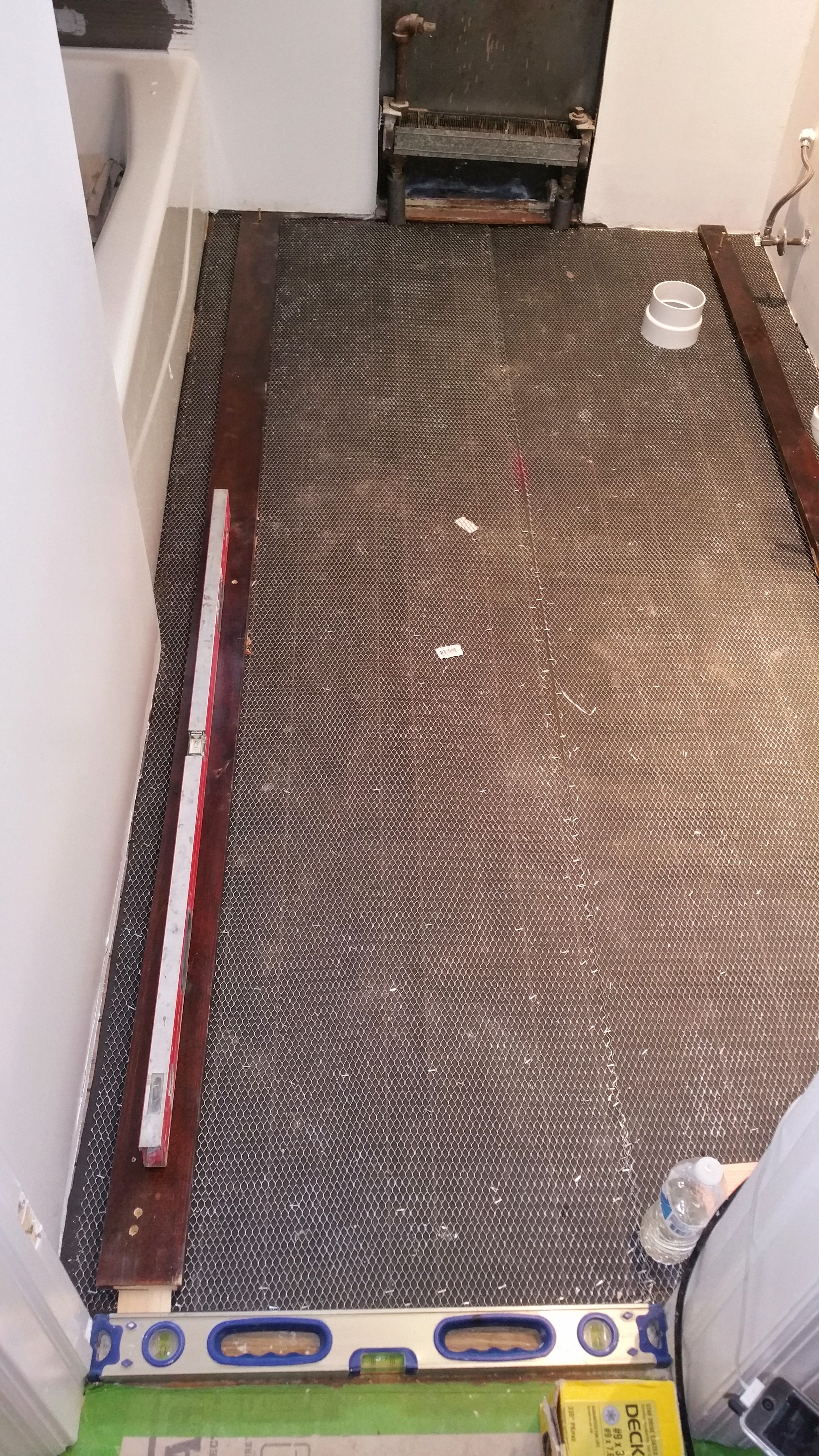 When The Substructure Settles And The Floor Is Very Unlevel It Is