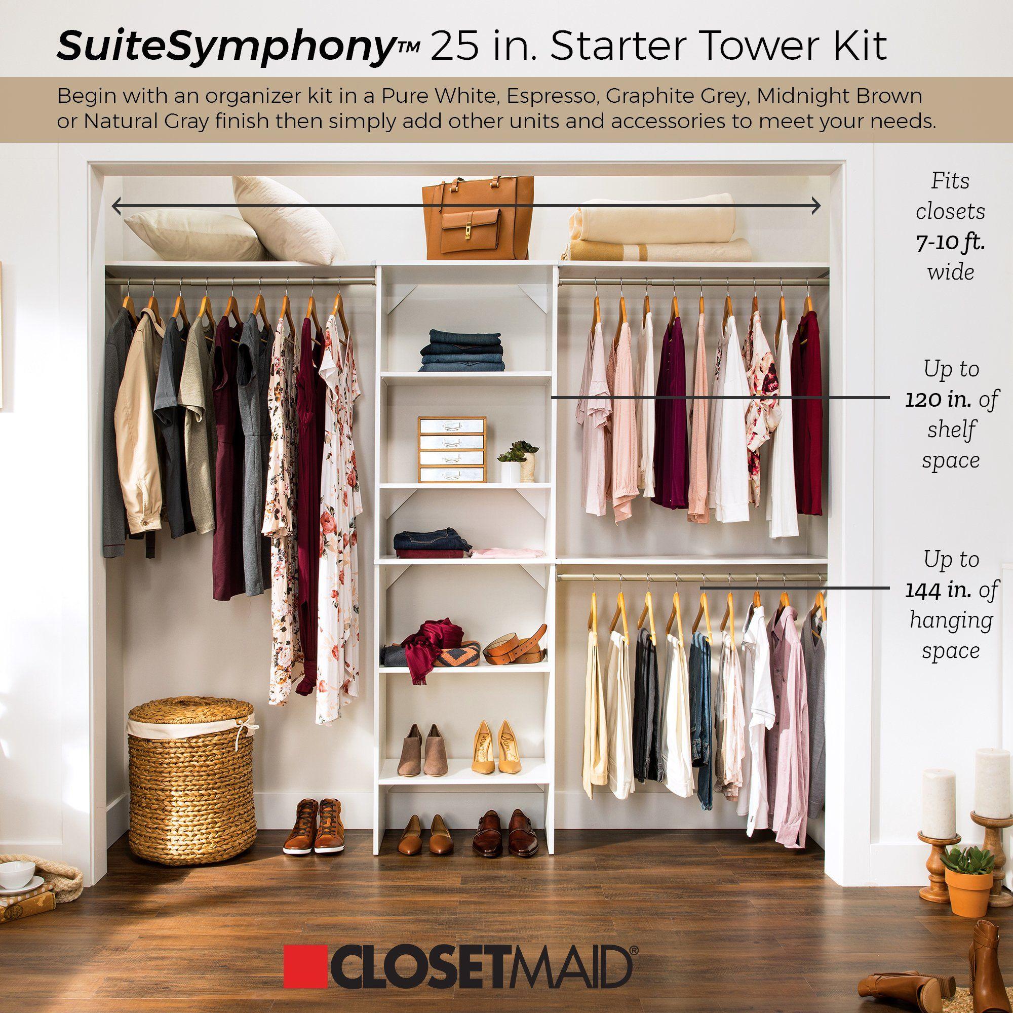 Suitesymphony 55 W 120 W Closet System Room Closet Closet Designs Closet Remodel
