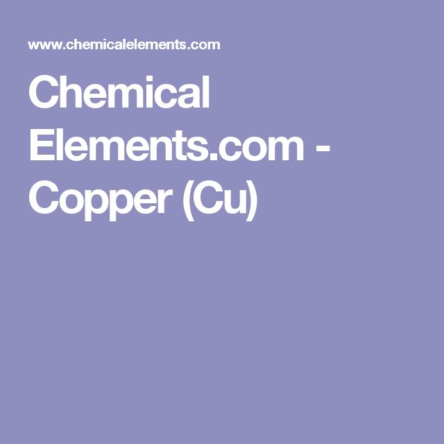 Chemical elements copper cu projects pinterest chemical elements copper cu urtaz Image collections