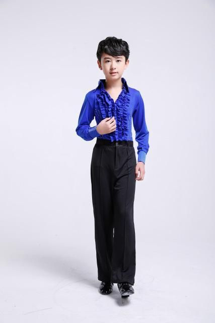 80031e6cb Boys Latin Dancing Costumes Kids Children Latin Salsa Practice Dance  Clothing Men's Ballroom Latin Dance Competition Costumes 89