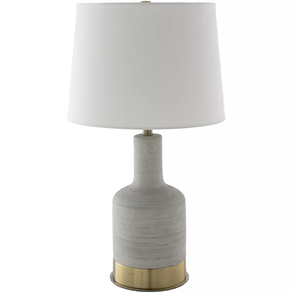 Brae Transitional Light Grey Gold Table Lamp Gold Table Lamp Lamp Table Lamp