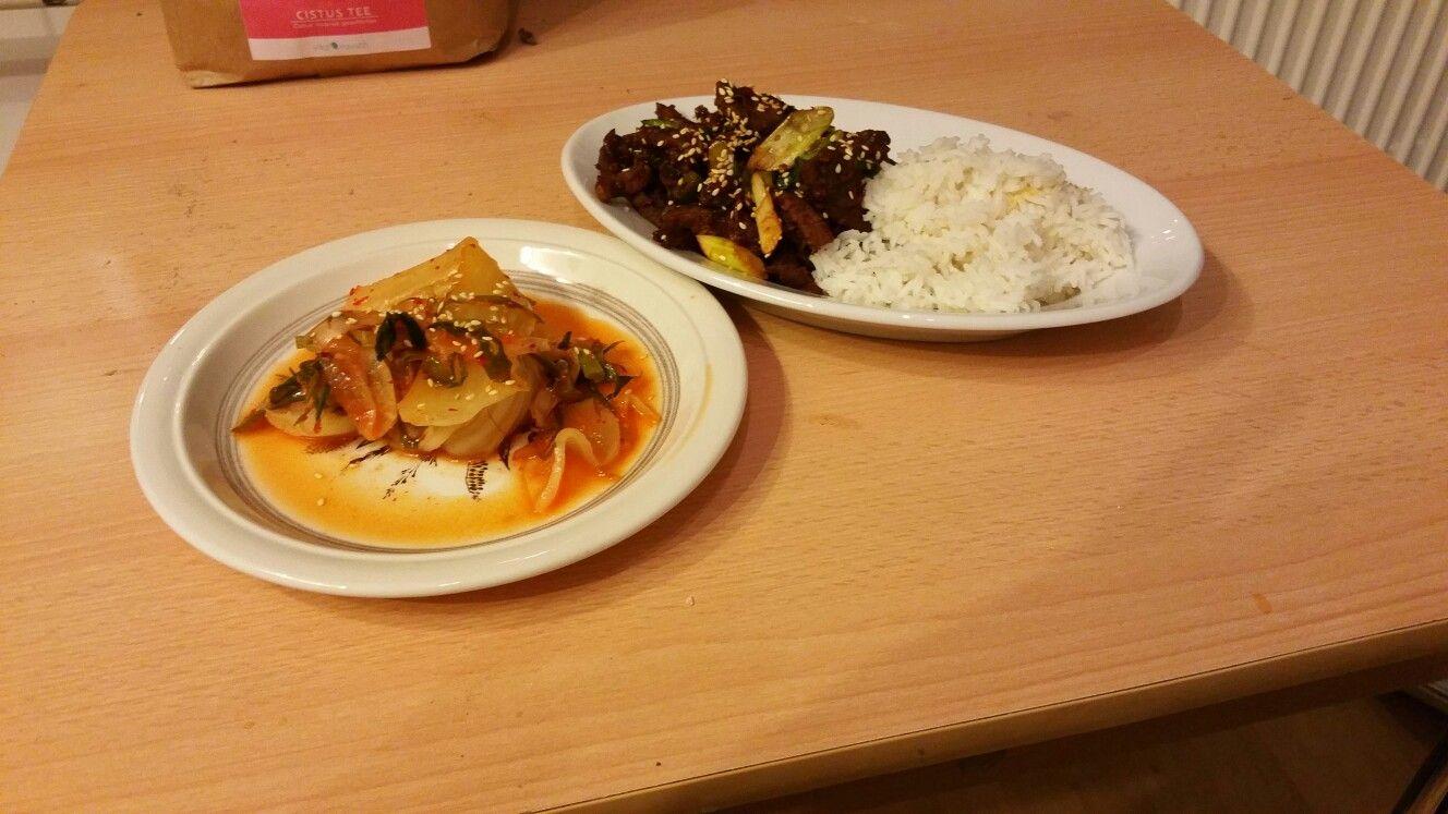 korenisches bulgogi und kimchi
