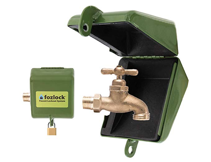 Amazonsmile Fozlock Outdoor Faucet Lock System Green Insulated Garden Hose Bibb Lock And Spigot Lock With Cover Prevent Wa Front Yard Best Faucet Faucet