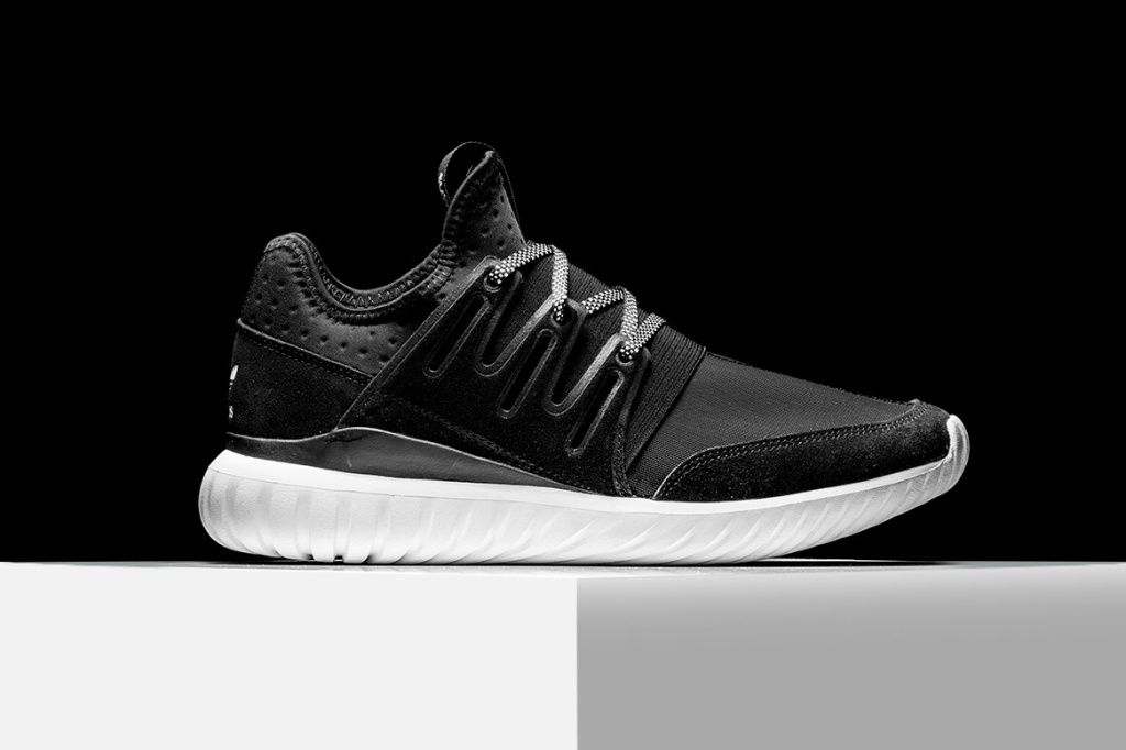 S76717 Men's adidas Originals Tubular Radial Ice MINT Black