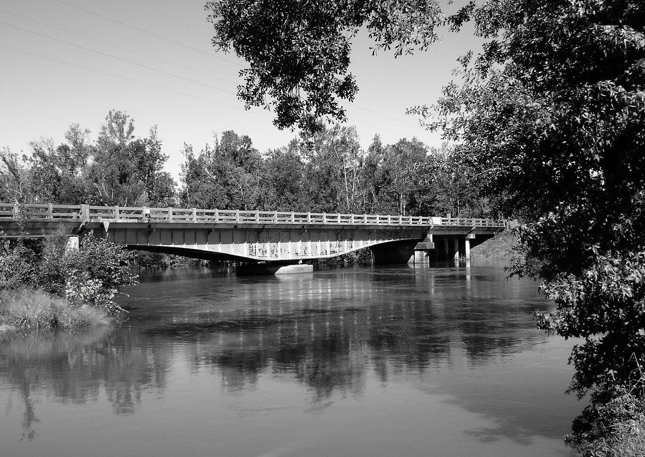 Deweyville Swing Bridge in Calcasieu Parish, Kentucky.