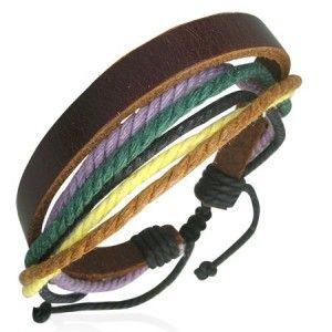 Men's Surf Bracelet Multi Strand Cotton & Leather Men's Jewellery #mensfashion #mensjewellery