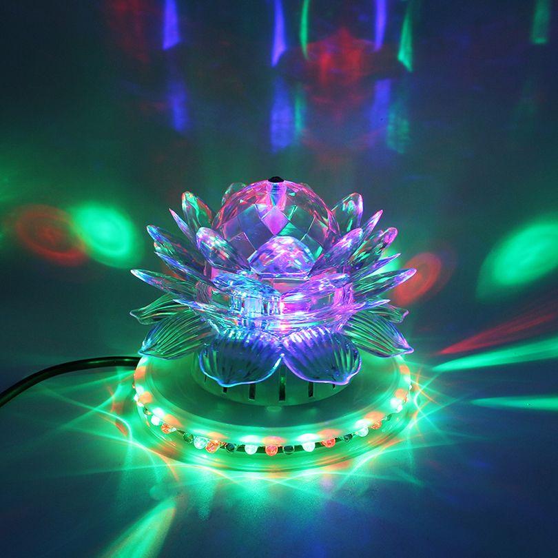 RGB Led Etapa de Luz Automático Lámpara Giratoria Bola De Discoteca ...